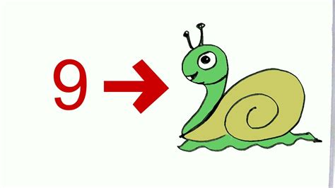 Number Drawing 0 To 9 by How To Draw Snail From Number 9 In Easy Steps For