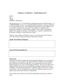 verbal warning template best photos of written verbal warning sle employee