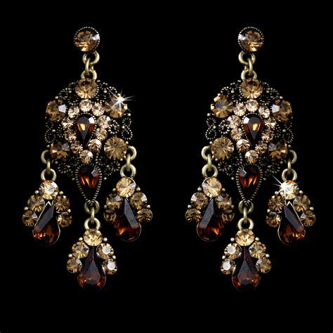 Brown Chandelier Earrings Style Gold Brown Topaz Chandelier Earrings E 943