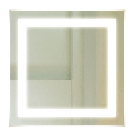 Square Bathroom Mirror Backlit Square Bathroom Mirror With Led Border Luxe Mirrors