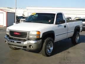 2006 gmc sierra 2500hd regular cab specifications