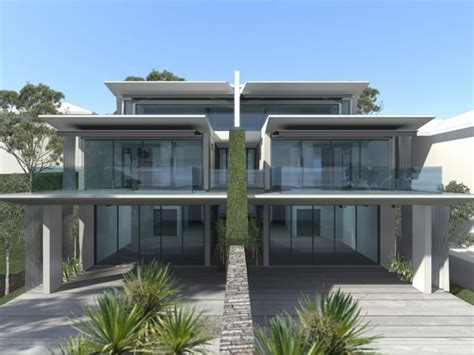 waterfront dual occupancy residential architecture