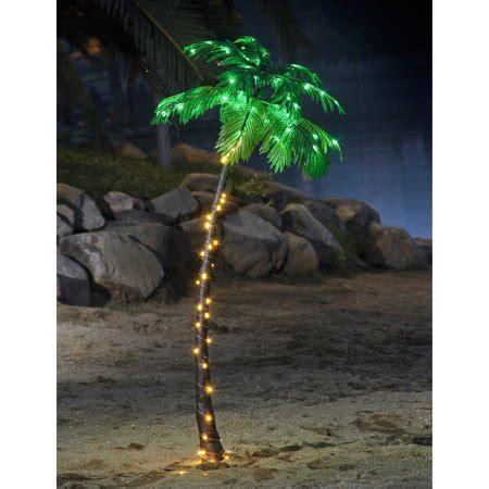 palm tree christmas light net lightshare 5ft palm tree with 56 lights green led walmart