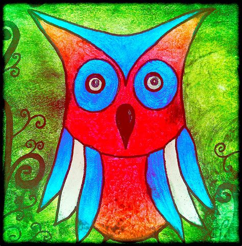 painting for kids colorful owl kids art painting by laura carter
