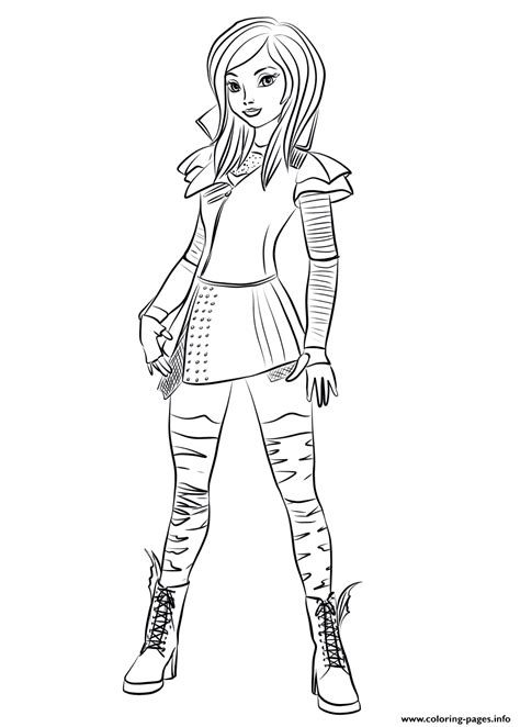 Mal From Descendants Coloring Pages Printable