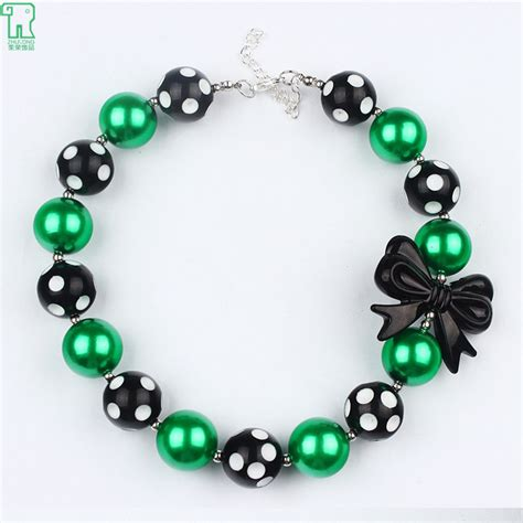 baby beaded statement necklace children chunky