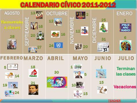 Calendario Civico Escolar Carlos Castro Morales 2015 2016 Calendario C 205 Vico Escolar
