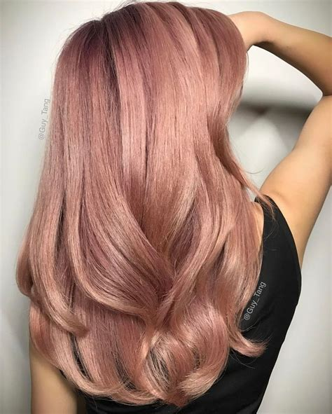rose gold hair color so gorgeous subtle rose gold hair by guy tang on