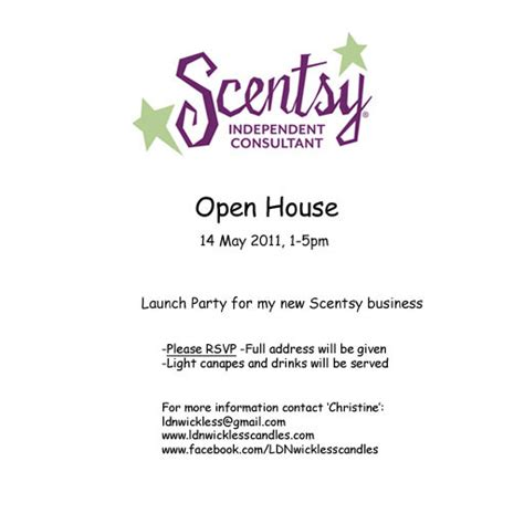 scentsy invitation templates things happen for myself just travelin through
