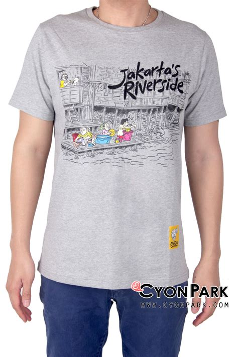 Tshirt Kaos Raglan Oneck Pria Cowok Putih Combed Murah comical kaos kartun asli indonesia butik