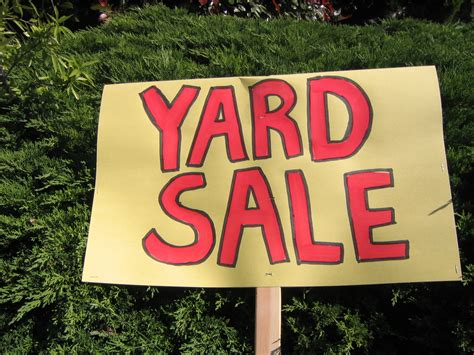 Garage Sales Missions Yard Sale