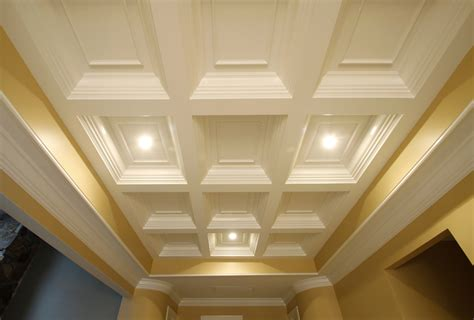 Coffered Ceiling Installation Coffered Ceilings Wainscot Solutions Inc