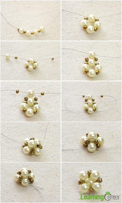 Handmade Earring Patterns - how do you make handmade pearl stud earrings step by step