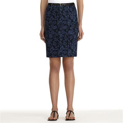 navy floral pencil skirt jones new york floral stretch
