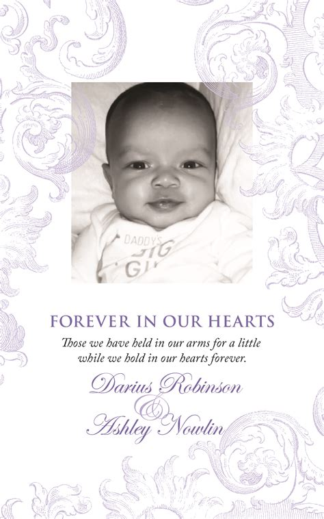 Free Baby Obituary Template
