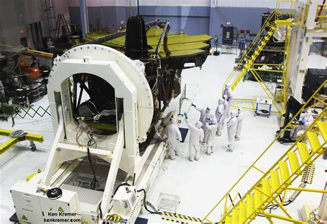 the room telescope unveiled webb telescope mirrors mesmerize in golden universe today