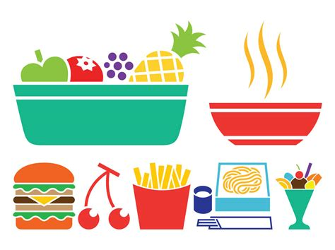 food vector food icon set vector art graphics freevector com