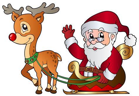Santa rudolph clipart free download clip art on - Clipartix Free Clip Art Santa And Reindeer