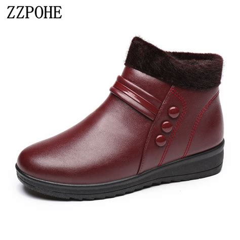 comfortable shoes for elderly men zzpohewinter mother cotton shoes waterproof plus warm