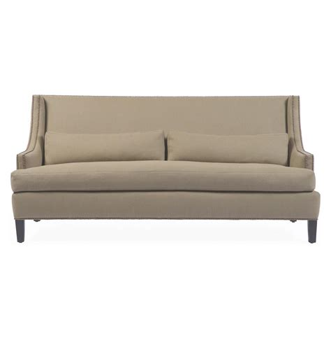 feather sofa bruno hollywood regency beige linen feather down condo