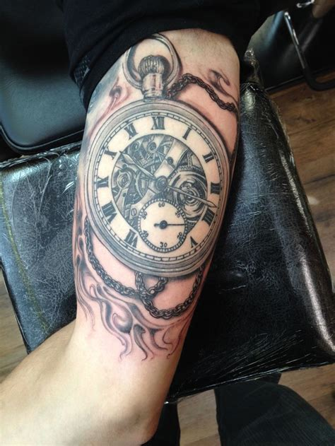 pocket watch tattoo tattoo artist chuck schmidt the