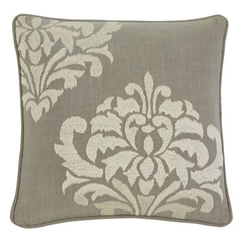 Damask Throw Pillows by Damask Throw Pillow Cover In Gray A1000329p