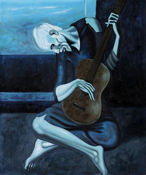 pablo picasso paintings guitar the guitarist kimro museum