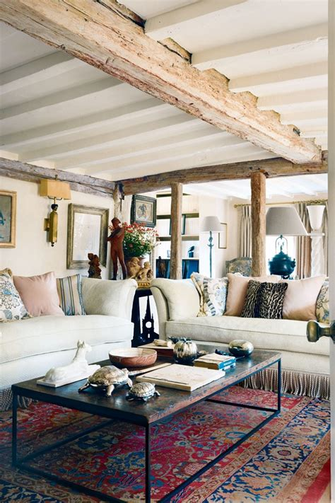 eclectic living room by two story cottage mix and chic home tour a charming and eclectic english