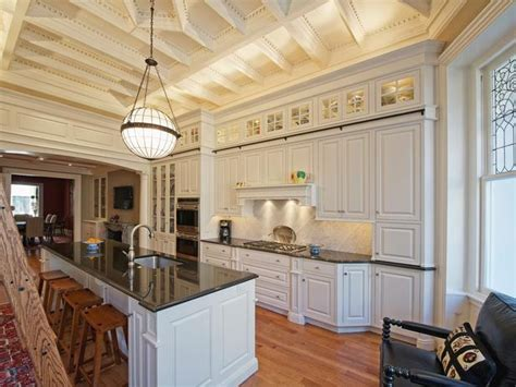 hgtv kitchen design tray ceiling kitchen kitchen with traditional white kitchen with coffered tray ceiling
