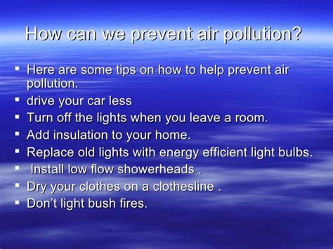 How To Prevent Air Pollution Essay by 7 Air Pollution Presentation