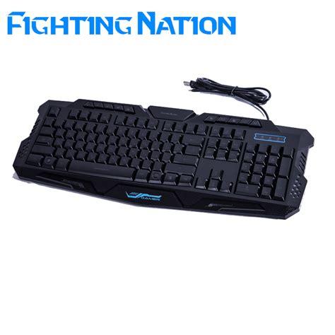 Keyboard Gaming Led fighting nation russian backlit gaming illuminate keyboard
