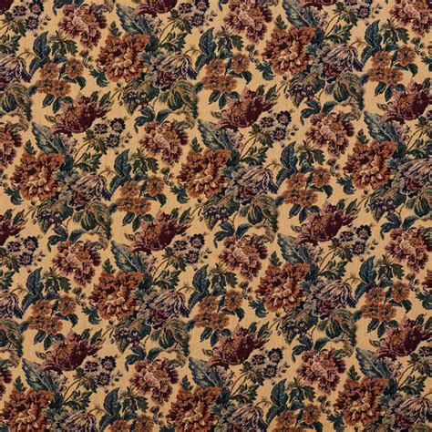 Tapestry Material Upholstery by Beige Green And Burgundy Vintage Floral Tapestry