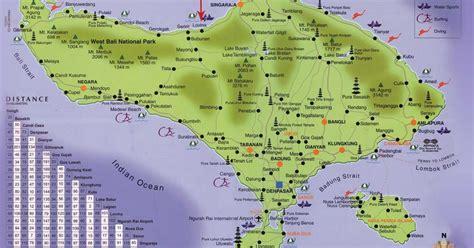 details bali road map  travelers guidance