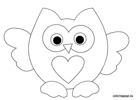 coloring pages of big owl birds coloring page