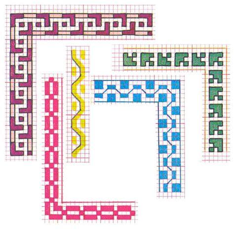 cornice a punto croce greca cornici schemi punto croce