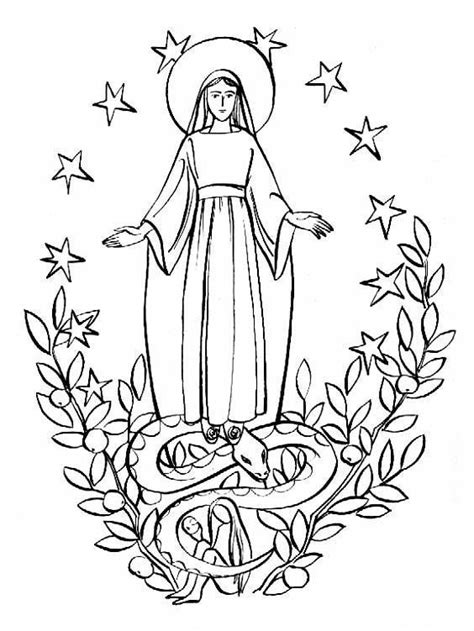 coloring page catholic mary the new eve catholic coloring page school