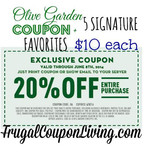 olive garden com coupons