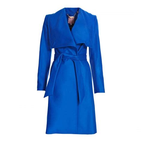 blue danita wrap wool coat brandalley