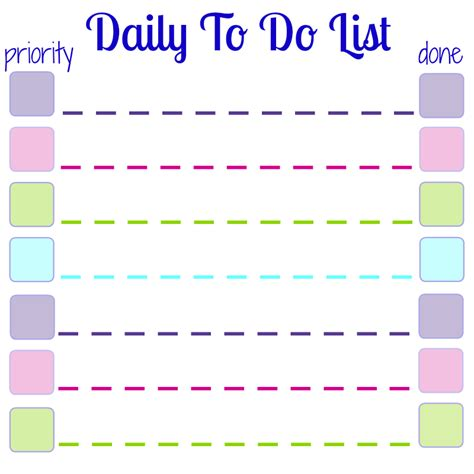 make your own printable to do list daily to do list printable for sticky notes organized 31