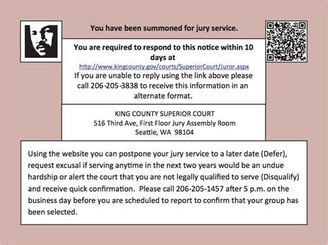 Does Jury Duty by Jury Duty King County