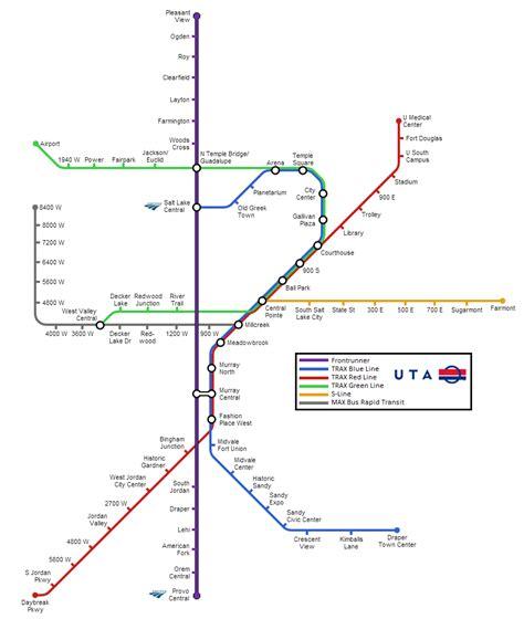 uta cus map unofficial maps other salt lake city rail transit transit maps