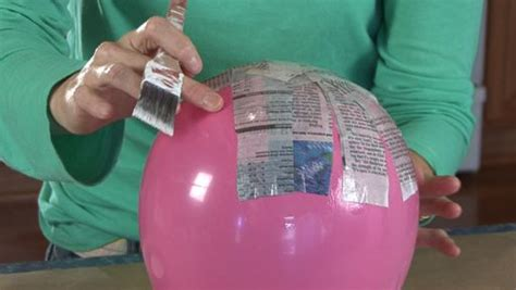 How Do U Make Paper Mache - how to make a paper mache bowl monkeysee
