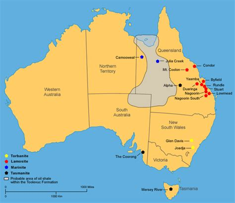 australia resource map shale deposits maps geology resources