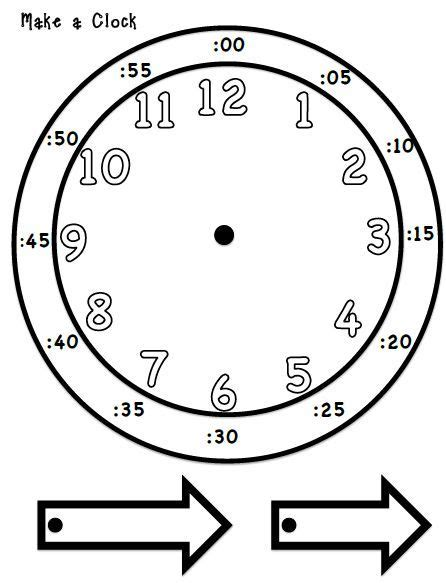 make your own clock template best 25 clock worksheets ideas on teaching