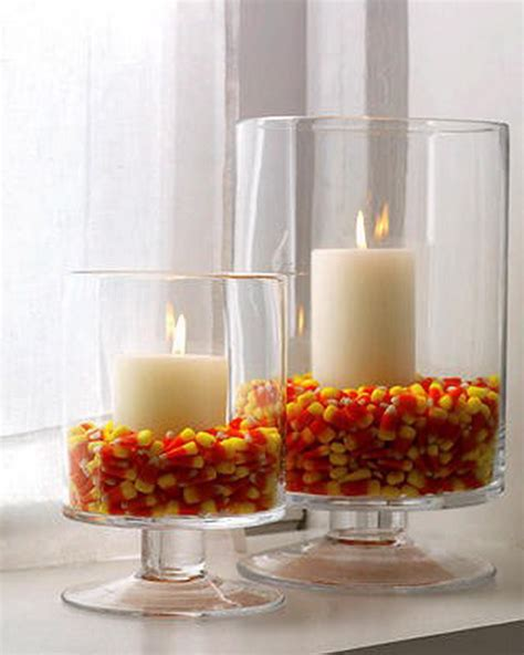 easy fall table decorations thanksgiving candle display ideas family