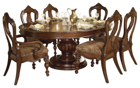 homelegance prenzo oval pedestal dining table in