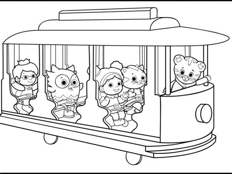 coloring pages daniel tiger daniel tiger coloring page coloring home