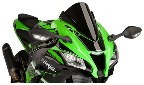 motorcycle racing gear puig racing windscreen kawasaki zx10r 2016 2018 cycle gear