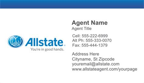 allstate insurance card template order allstate insurance business card templates