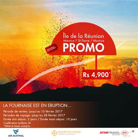 Promo Air promo reunion island air austral special la fournaise atom travel